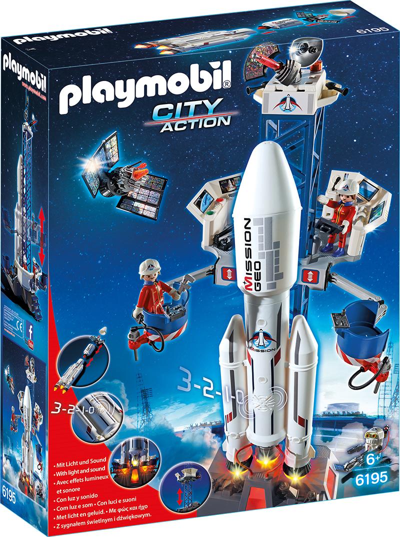Base de lancement avec fusée - Playmobil - 6195
