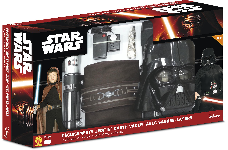 Pack déguisement - Jedi et Dark Vador Star Wars - 5 à 10 ans