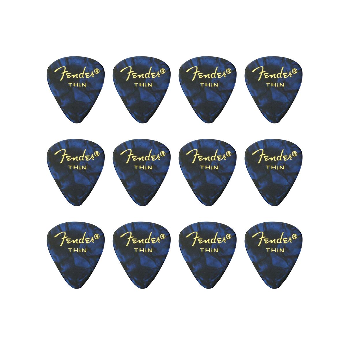Fender - 12 mediators Thin - Bleu moto
