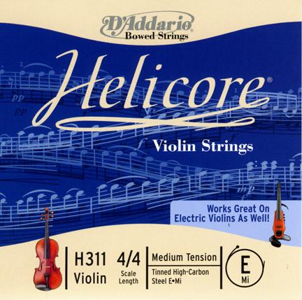 D\'Addario - Corde Helicore pour violon - H311-4-4M