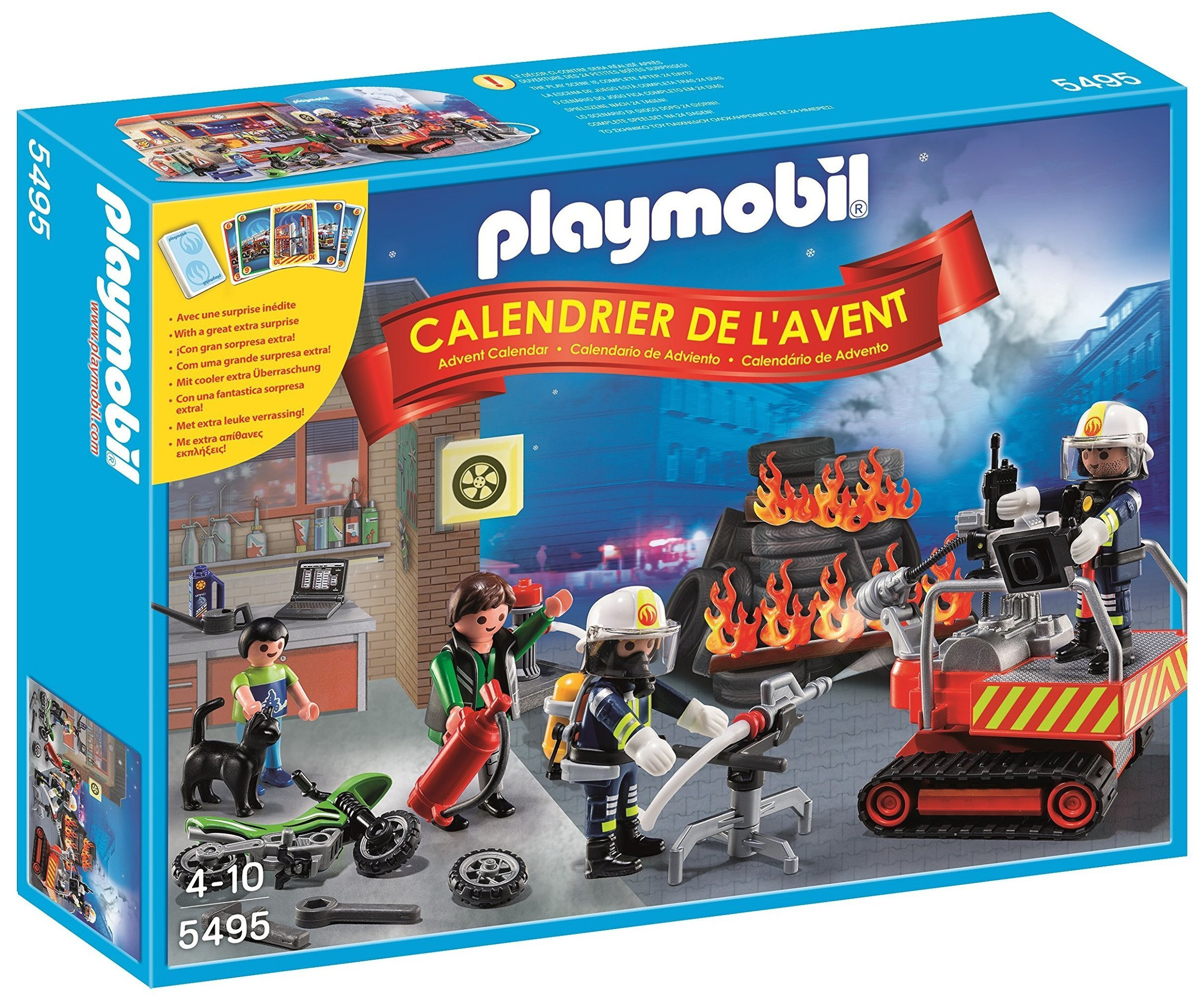 Calendrier de l'avent Playmobil - Brigade de pompier - 5495