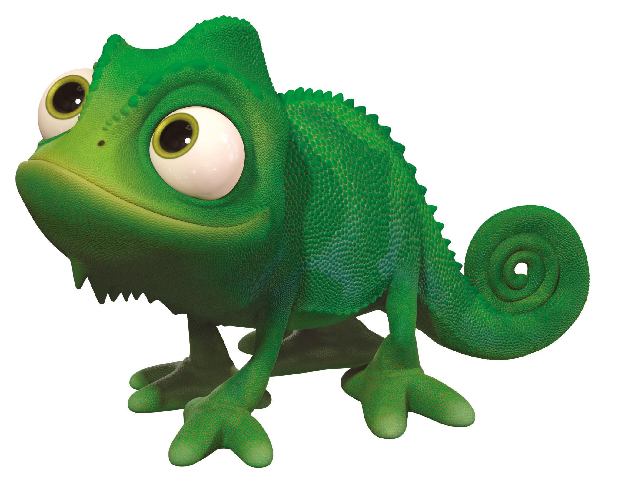 Figurine Raiponce Disney - Pascal le caméléon - 6 cm