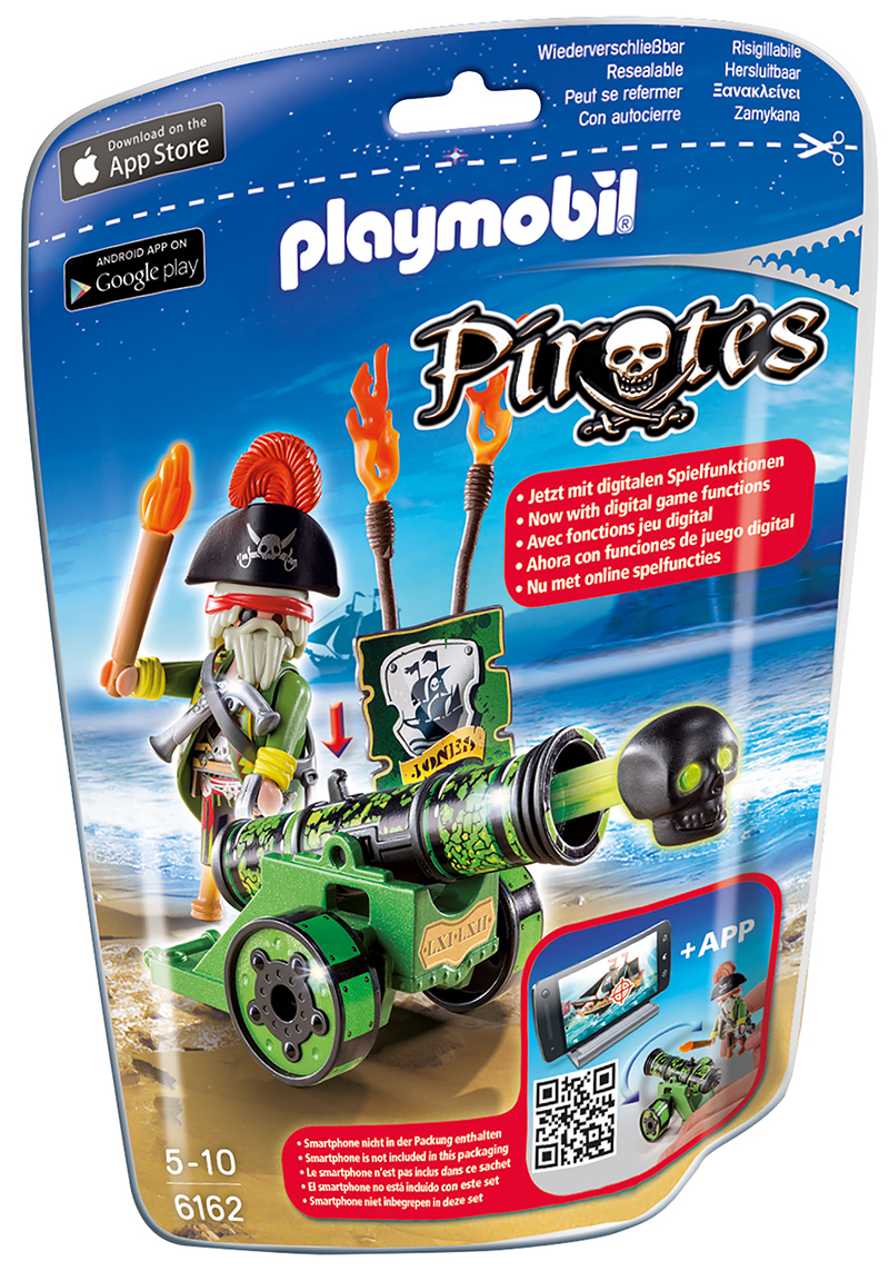 Capitaine pirate avec canon vert - Playmobil - 6162
