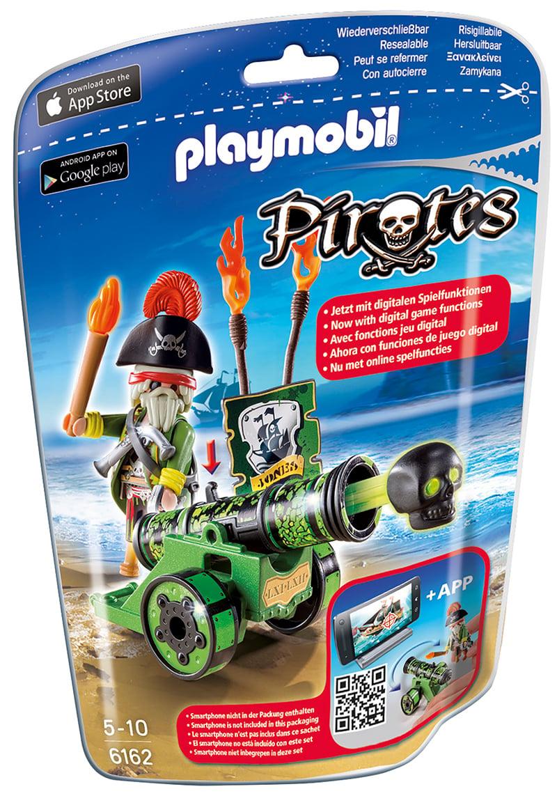Capitaine pirate avec canon vert - Playmobil - 6162