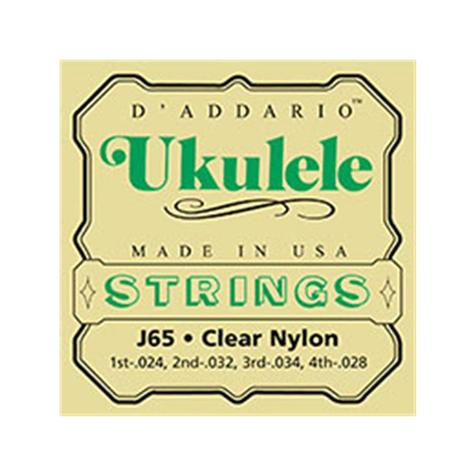 D\'Addario - J65 pour Ukulélé Soprano - Nylon