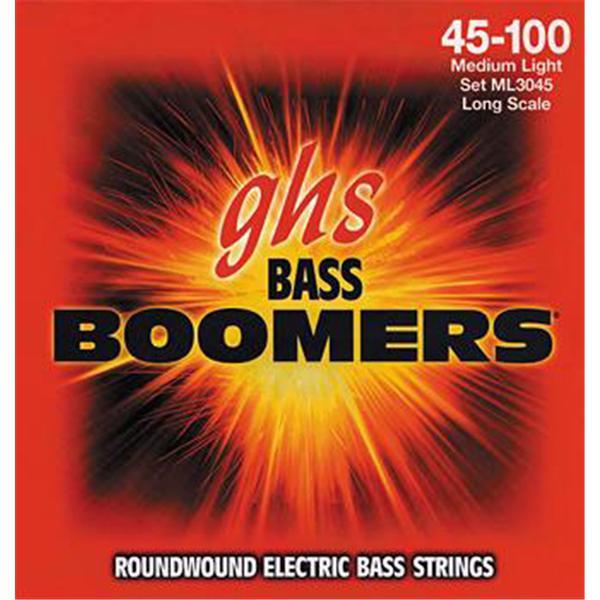 GHS - Jeu de cordes pour basse électrique - 3045ML - Médium - 45/100