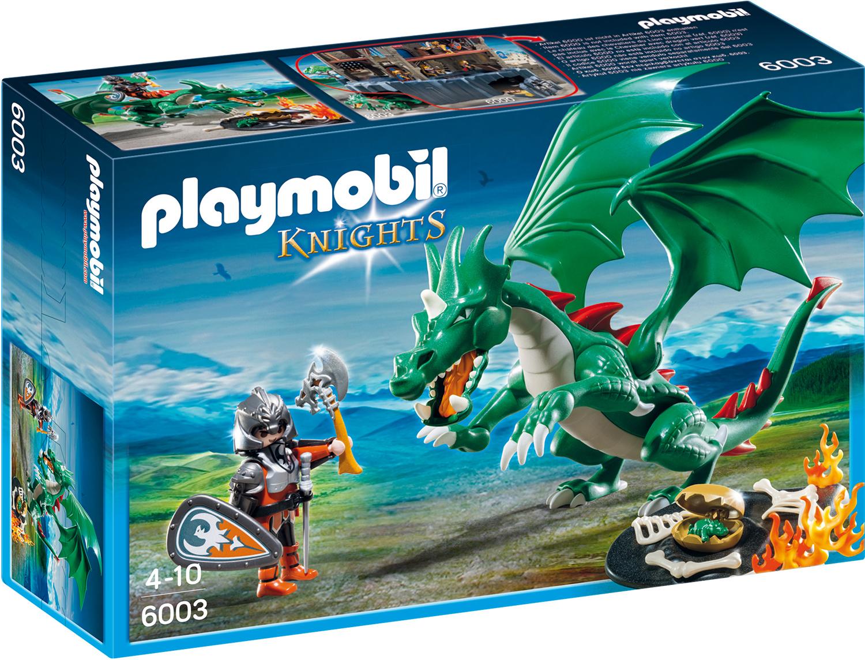 Chevalier avec grand dragon vert - Playmobil Knights - 6003