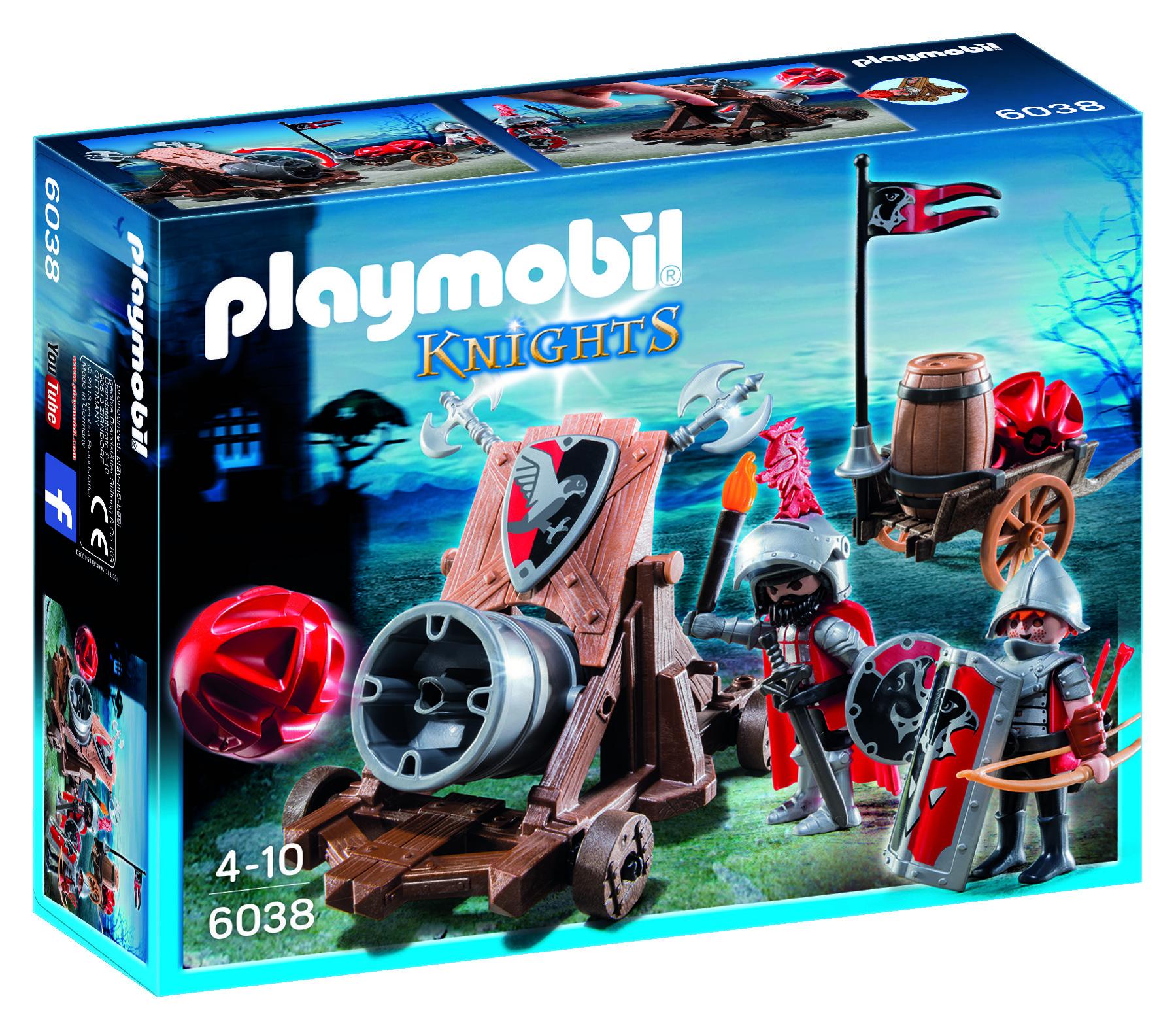 Chevaliers de l'Aigle avec canon géant - Playmobil Knights - 6038
