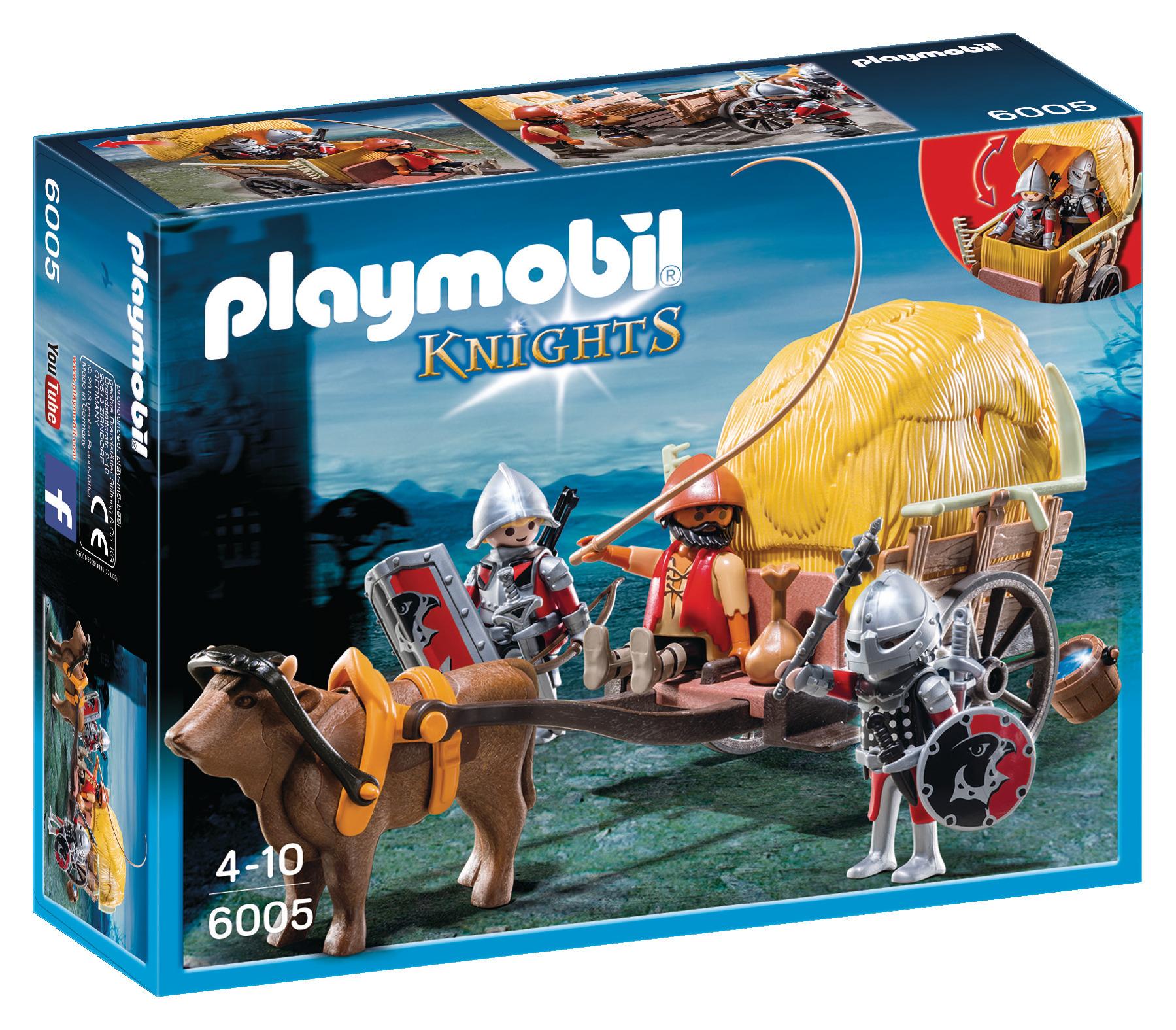Chevaliers de l'Aigle avec charrette piégée - Playmobil Knights - 6005