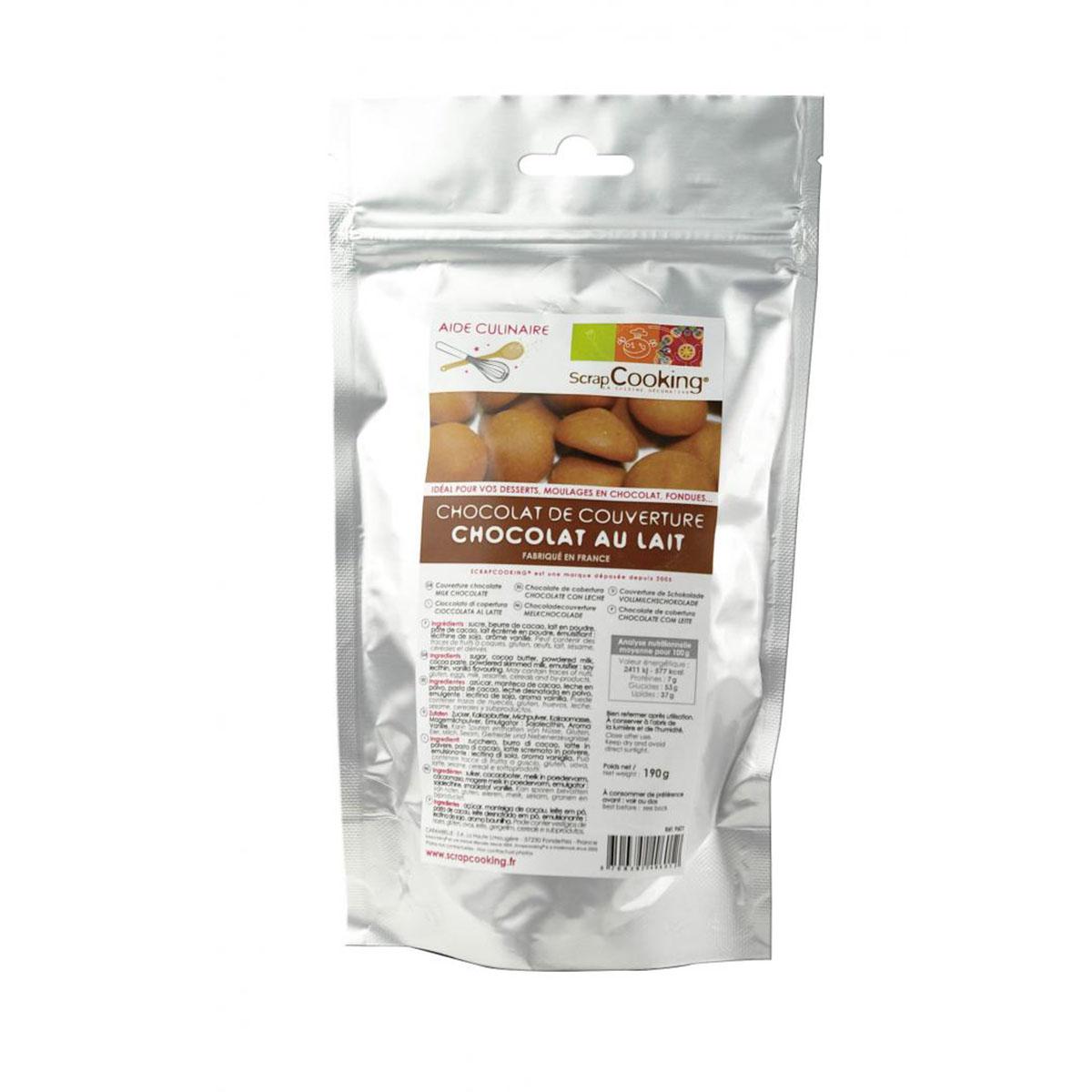 Image du produit Chocolat de couverture - Lait - 190g  - Scrapcooking