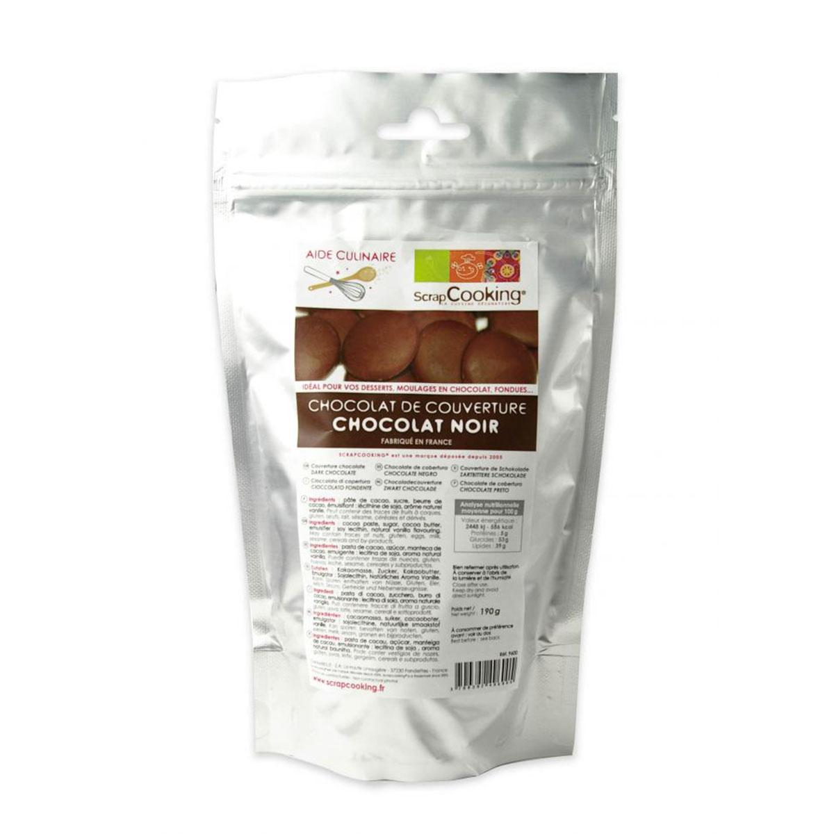 Image du produit Chocolat de couverture - Noir - 190g  - Scrapcooking