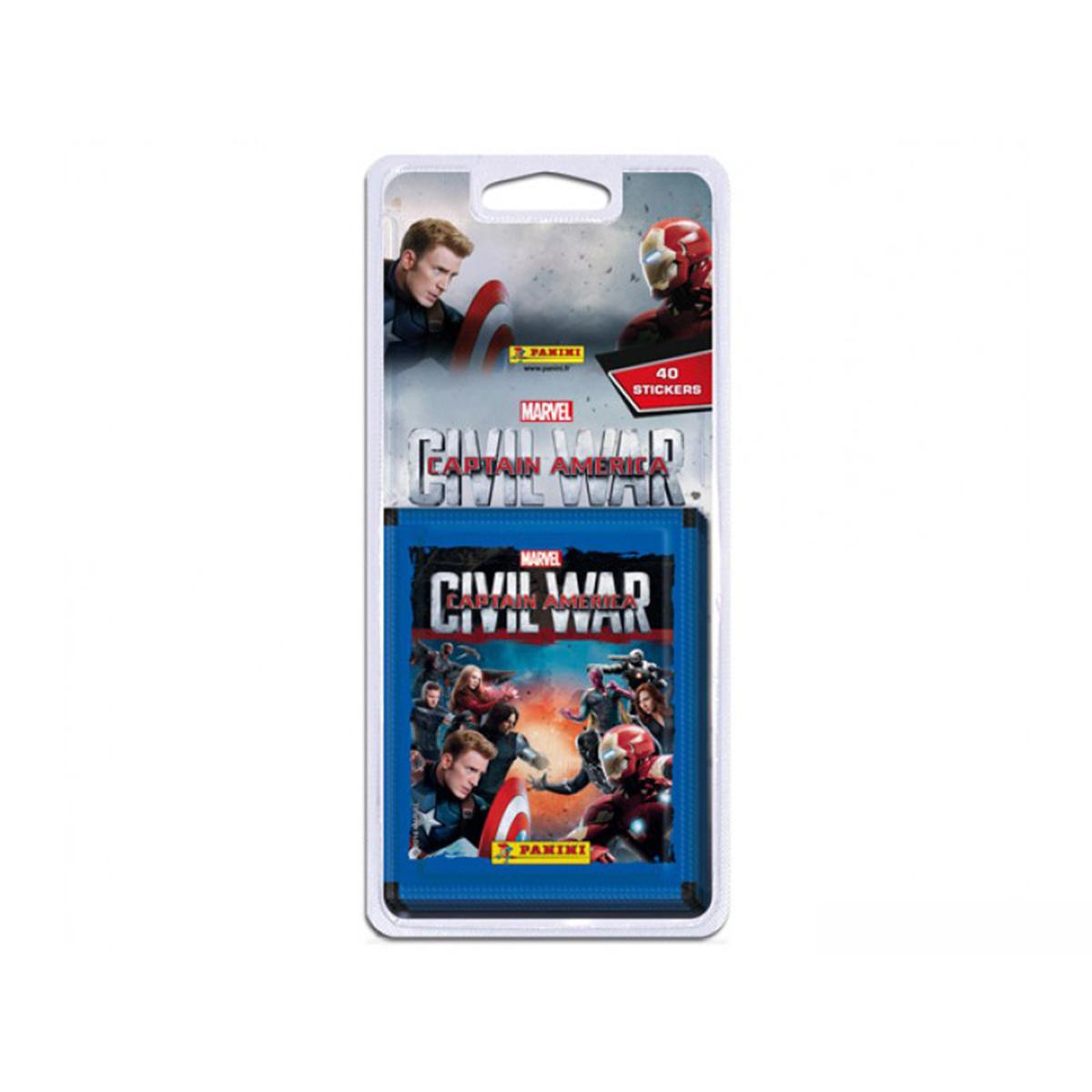 40 stickers Panini - Captain America Civil War - 8 pochettes