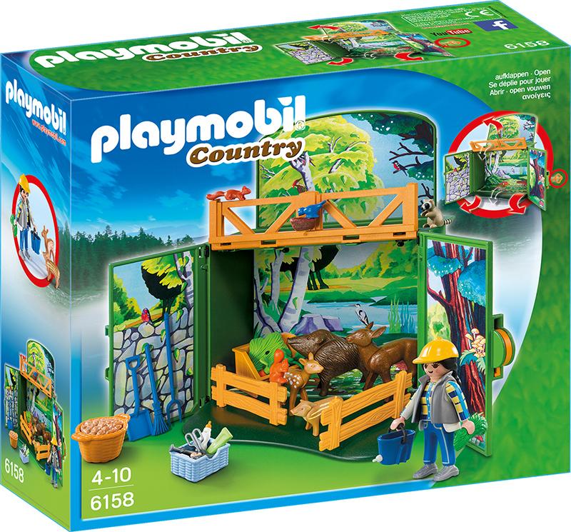 """Coffre Enclos des animaux de la forêt avec soigneur"""" - Playmobil - 6158"""""""