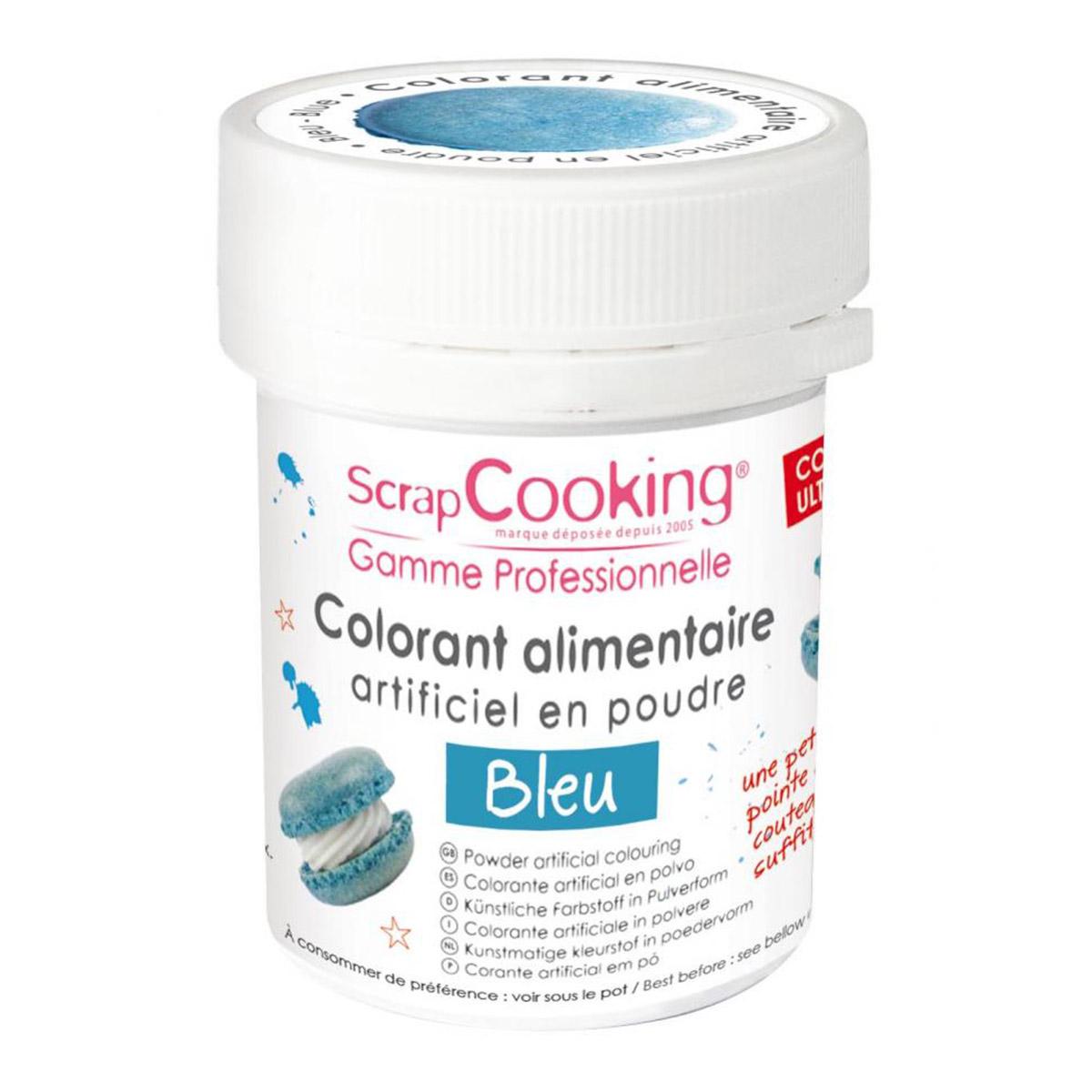 Image du produit Colorant artificiel en poudre - bleu - 5g - Scrapcooking