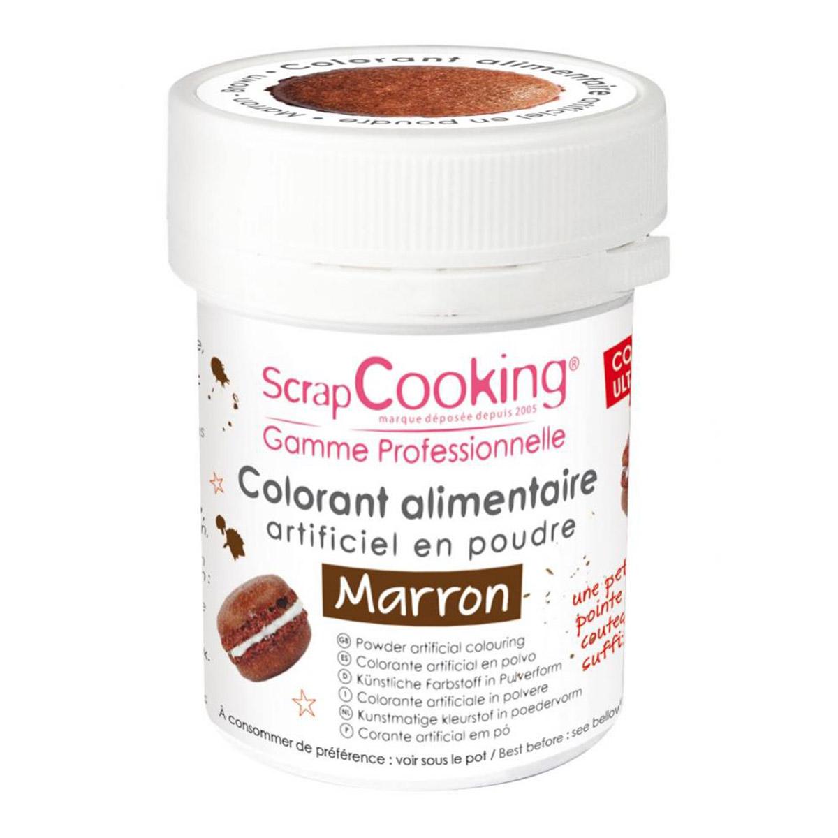 Image du produit Colorant artificiel en poudre - marron - 5g - Scrapcooking
