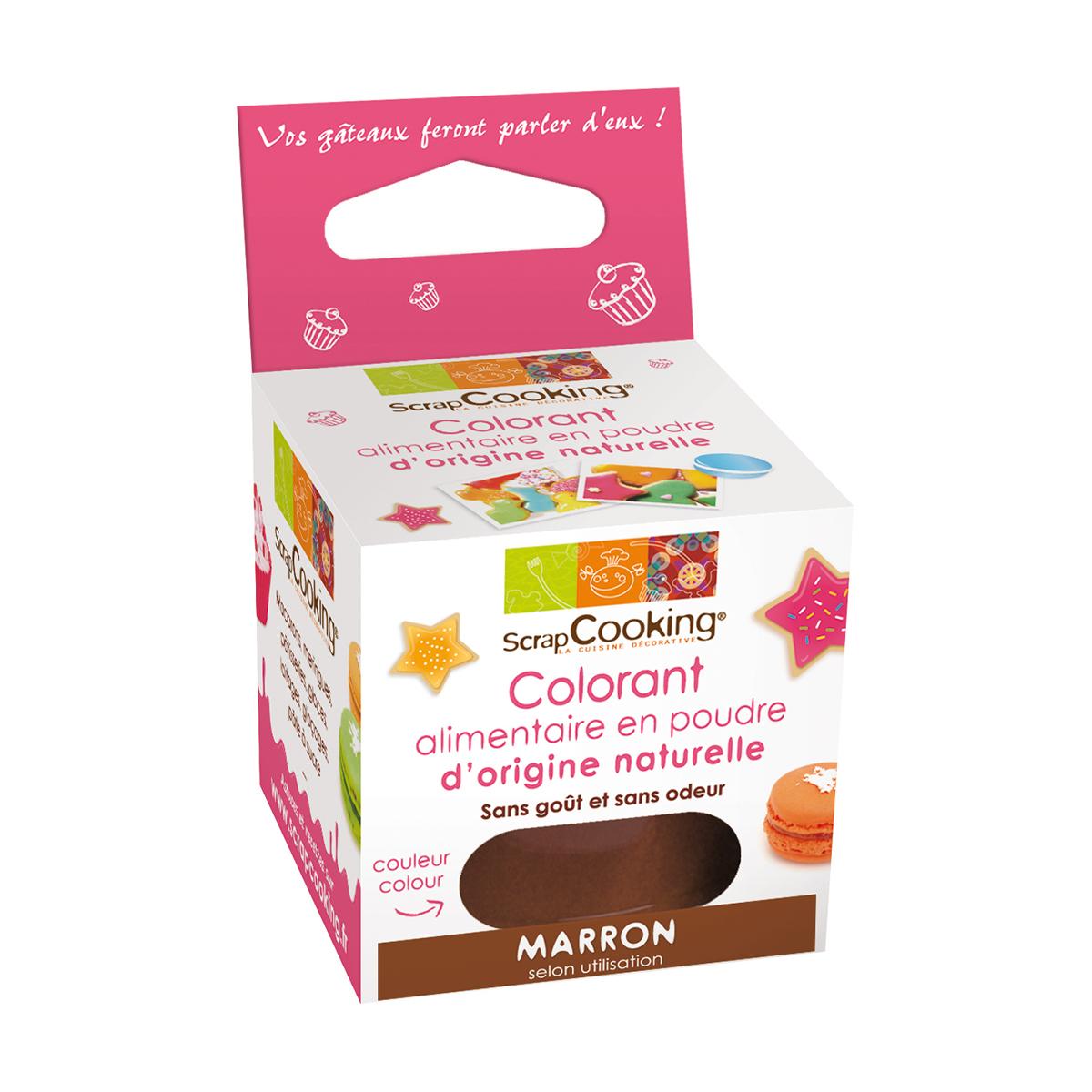 Image du produit Colorant alimentaire d'origine naturelle - marron - Scrapcooking
