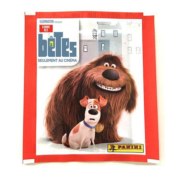 40 stickers Panini - Comme des bêtes - 8 pochettes