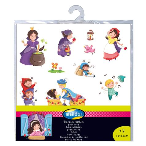 Gommettes repositionnables Contes Blanche Neige - 4 planches