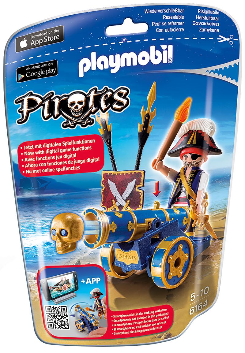 Corsaire avec canon bleu - Playmobil - 6164