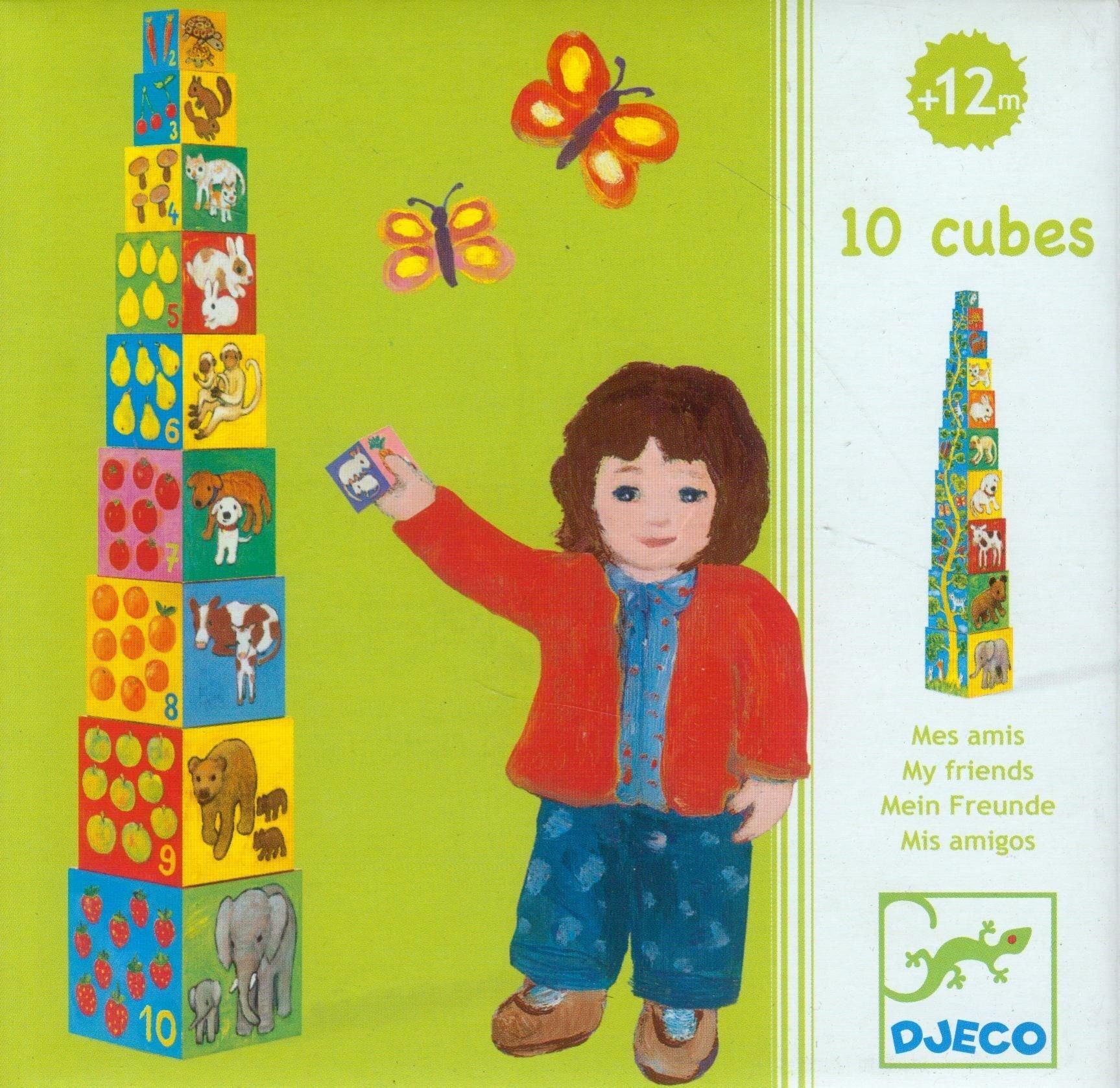 10 cubes à empiler - Mes amis