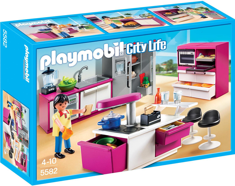 Cuisine avec îlot - Playmobil City Life - 5582
