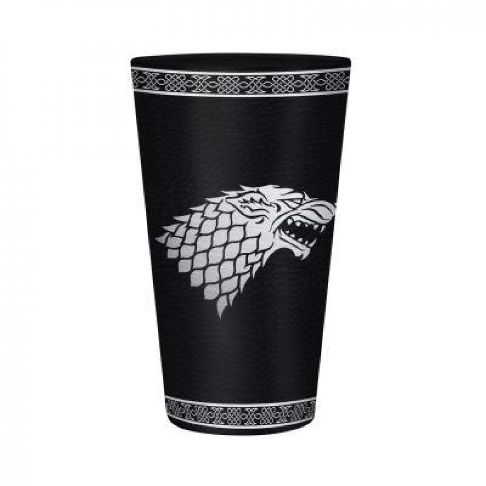 Game of Thrones Stark Drinking Glass 500 ml Official Merchandise