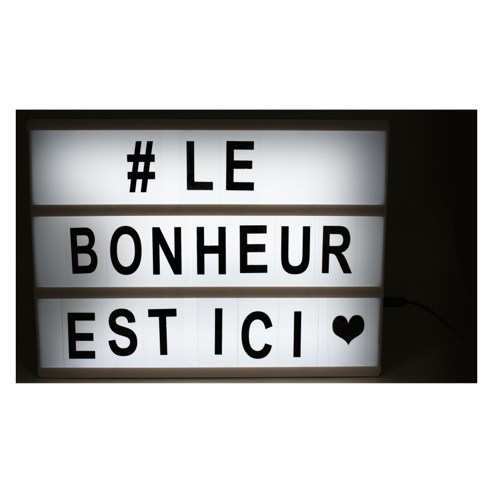 lightbox bo te messages lumineuse cultura pour lui. Black Bedroom Furniture Sets. Home Design Ideas