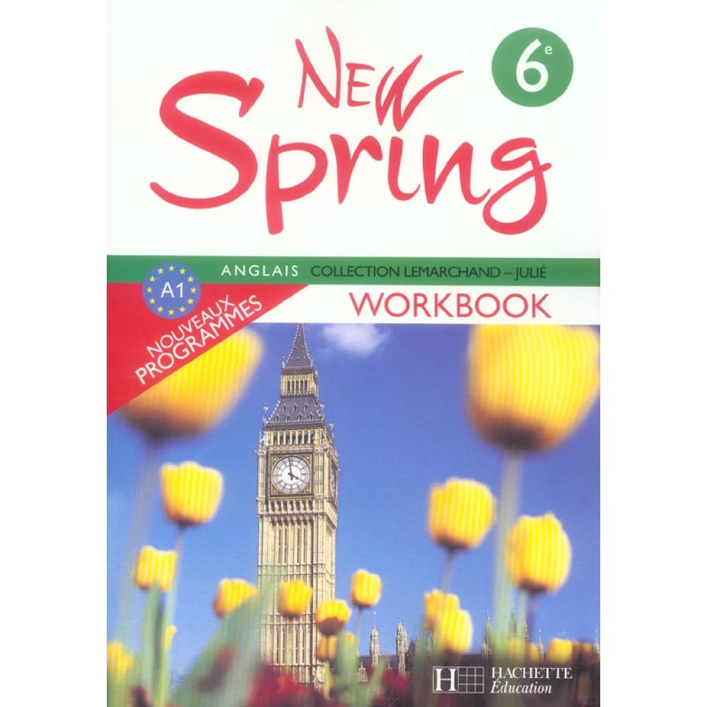 Anglais 6e New Spring Workbook