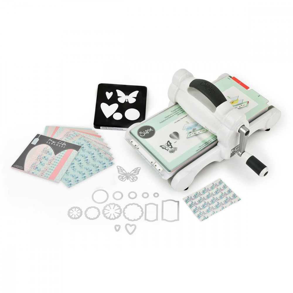 kit de d marrage machine big shot sizzix gris et blanc. Black Bedroom Furniture Sets. Home Design Ideas