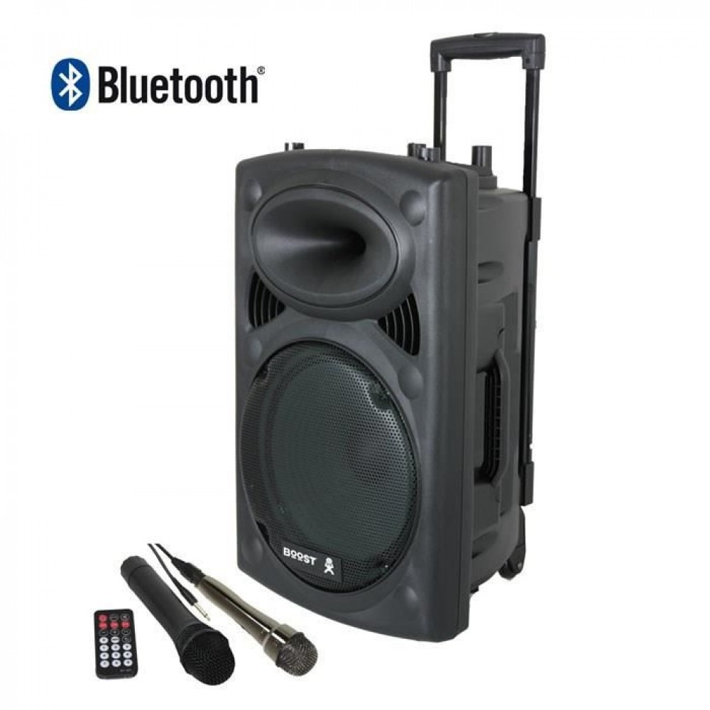 boost enceinte portable 100w 2 micros instruments de musique enceintes actives cultura. Black Bedroom Furniture Sets. Home Design Ideas