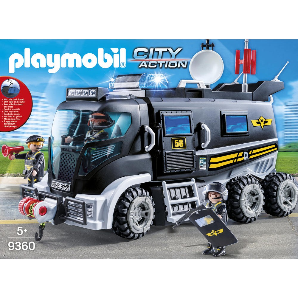 Camion Des Policiers D Elite Sirene Playmobil City Action