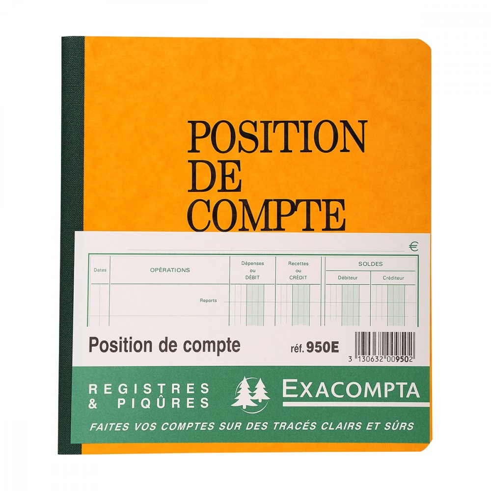 carnet position de compte 19x21 cm supports papiers. Black Bedroom Furniture Sets. Home Design Ideas