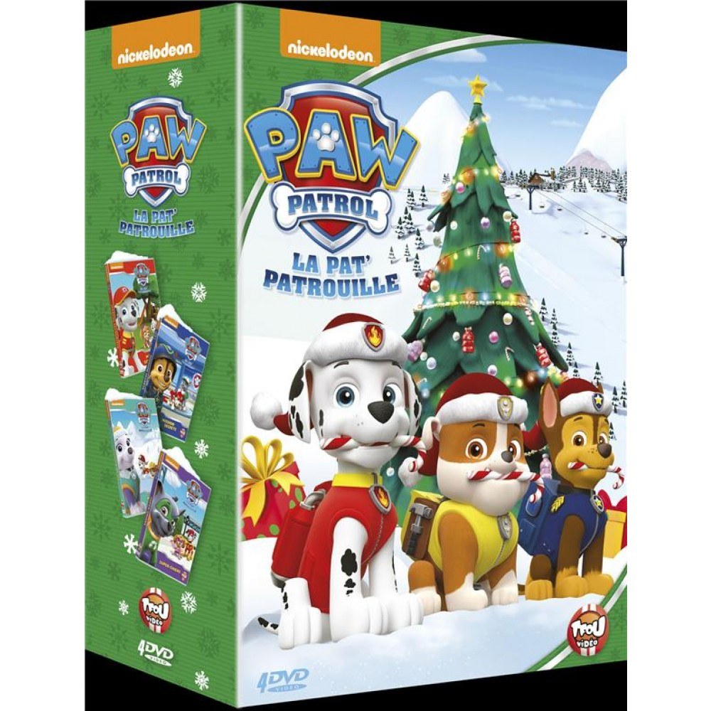 Coffret la pat 39 patrouille 4 films dvd bluray dessins - Patte patrouille ...