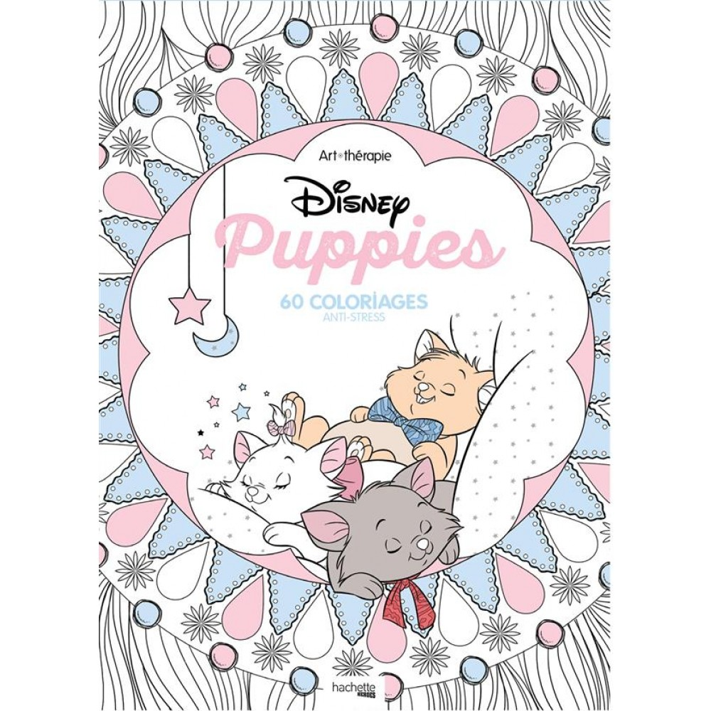 Disney puppies 60 coloriages anti stress livre - Album coloriage adulte ...