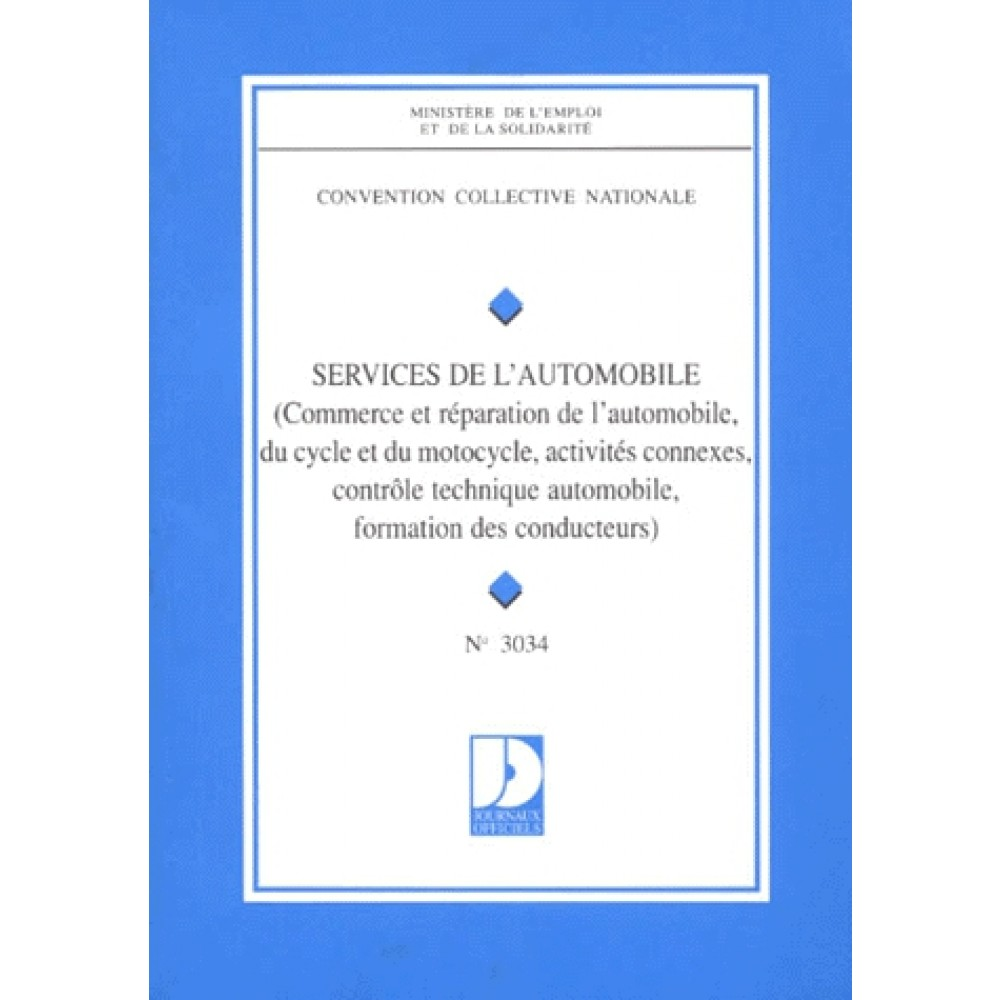 Convention Collective N 3034 Services De L Automobile Commerce