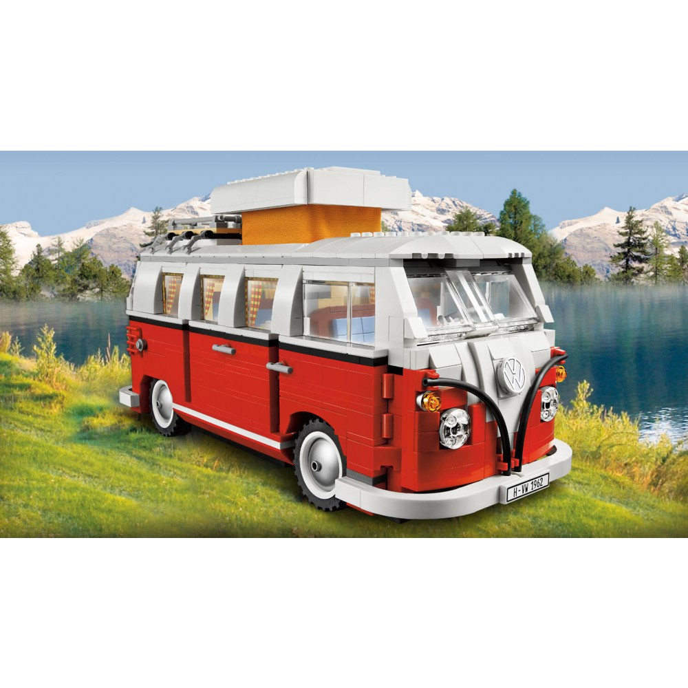 camping car volkswagen lego creator 10220 lego 13 ans et plus par ge jouets. Black Bedroom Furniture Sets. Home Design Ideas