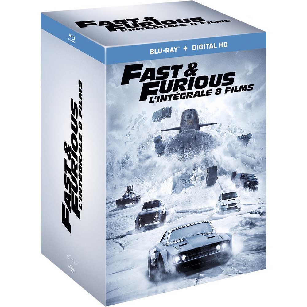 fast and furious 1 8 dvd bluray blu ray action. Black Bedroom Furniture Sets. Home Design Ideas