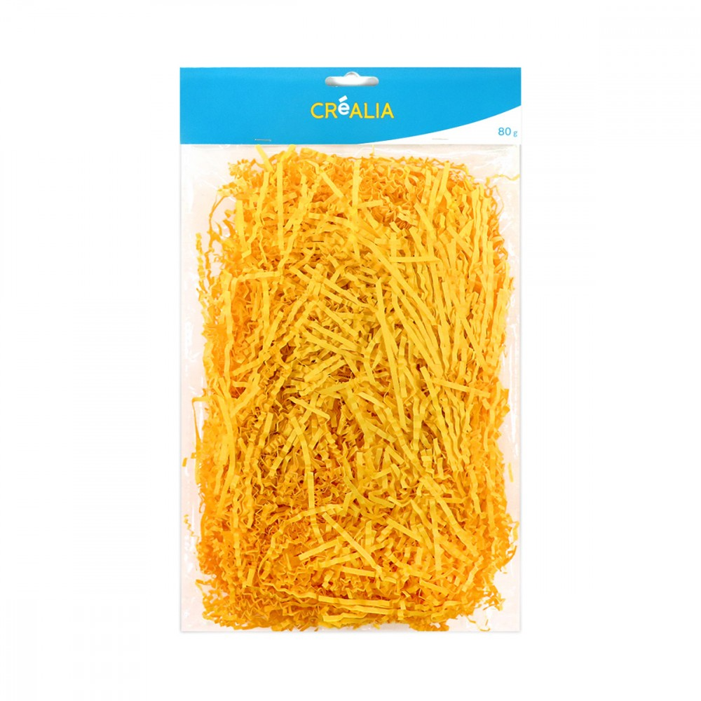 paille de papier - jaune - 80g - cultura collection pâques - art