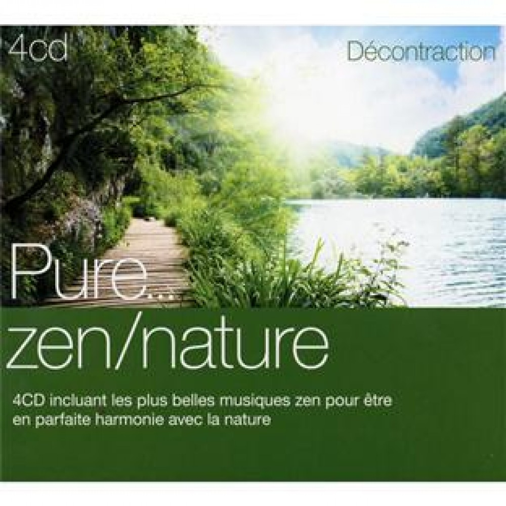 coffret 4 cd pure zen nature musique new age relaxation compilations ambiance. Black Bedroom Furniture Sets. Home Design Ideas