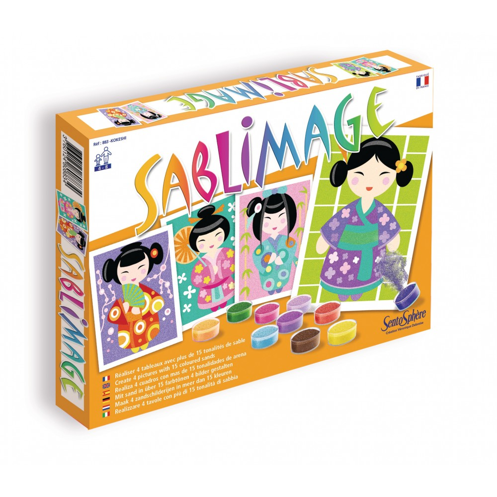 kit cratif sablimage kokeshi - Sable Color Djeco