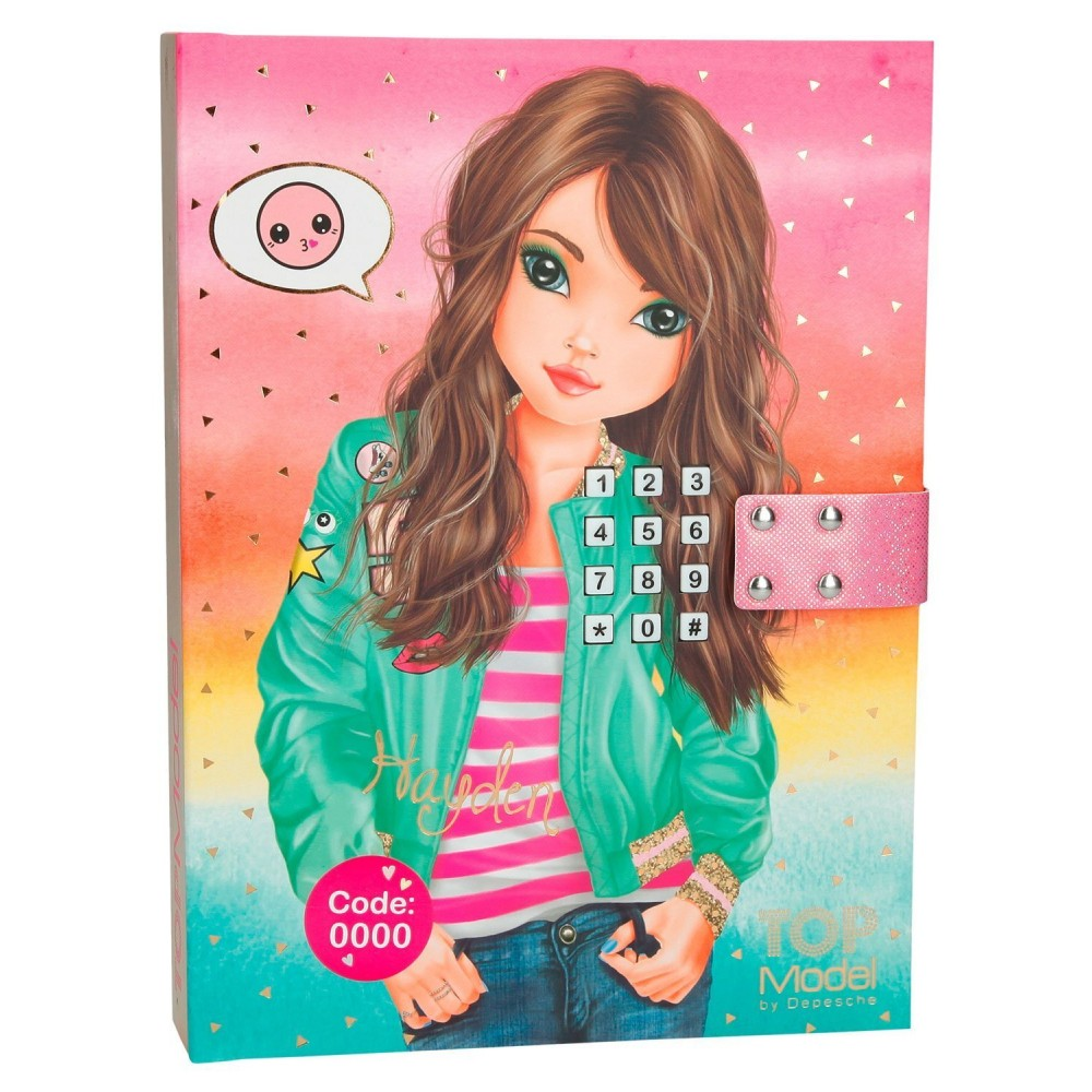 Journal intime code top model jouets activit s - Top model carnet de dessin ...