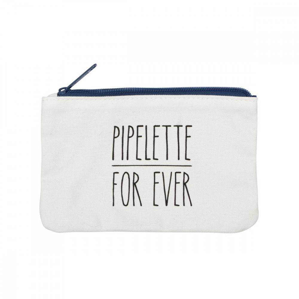 Trousse maquillage «pipelette for ever» - 19x12,5 cm