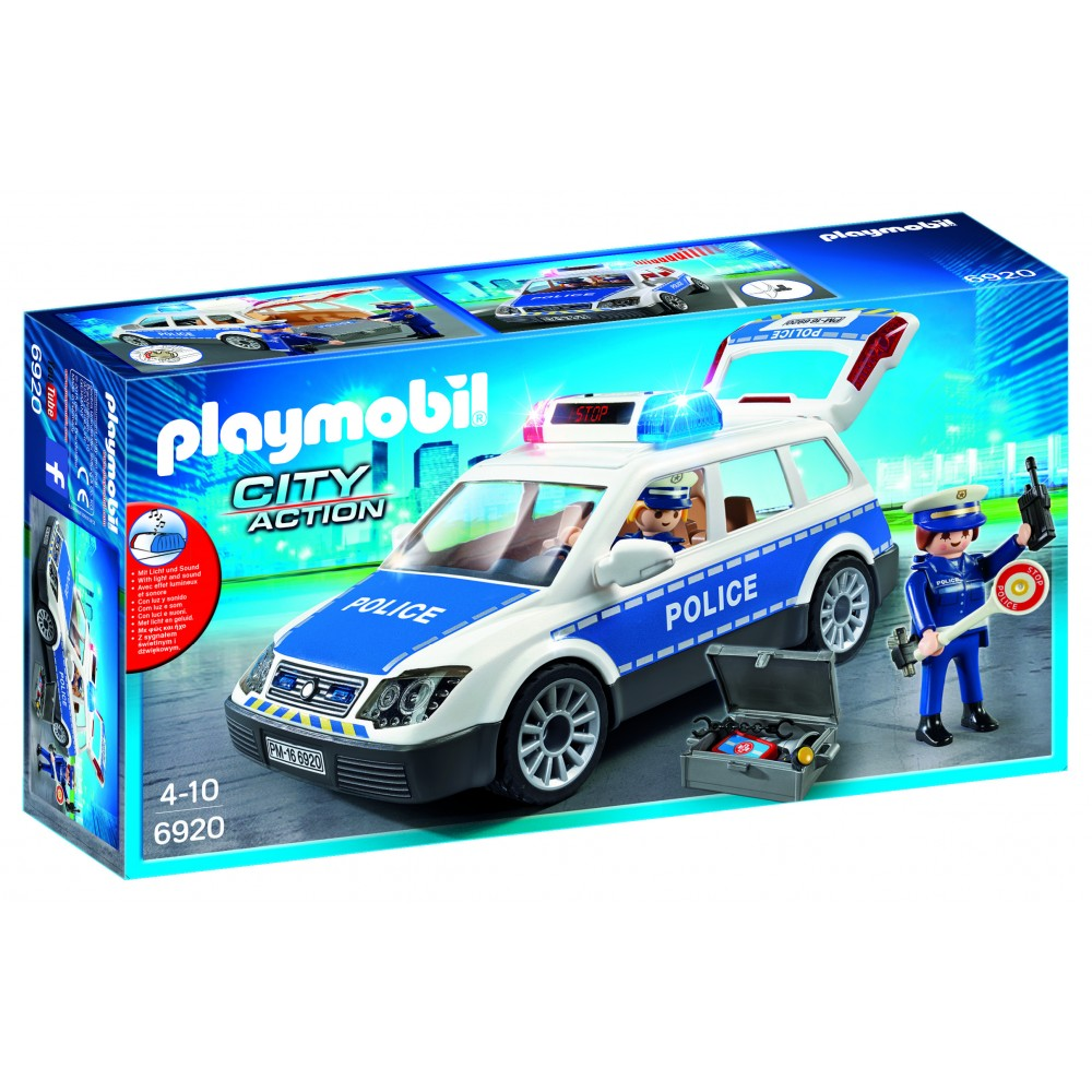 playmobil voiture de policiers avec sir ne. Black Bedroom Furniture Sets. Home Design Ideas