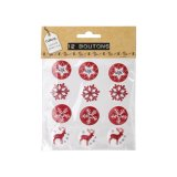 12 boutons ronds - 2 trous -  4 designs - Cultura Collection