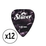 Shiver - 12 médiators celluloïd 1.20 violet