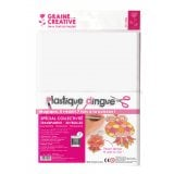 30 feuilles plastique dingue transparent