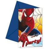6 Cartes d'invitation - Spiderman
