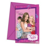 6 Cartes d'invitation - Violetta