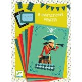 8 cartes d'invitation - Des pirates