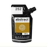 Peinture acrylique abstract - Ocre jaune n°252 - 120 ml